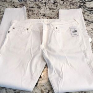 7 jeans skinny white pant size 28